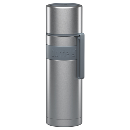 Boddels HEET Vacuum flask with cup Capacity 0.5 L, Material Stainless steel,  Light grey