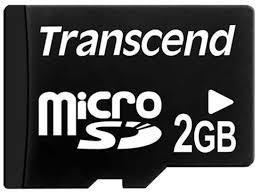 MEMORY MICRO SD 2GB/TS2GUSDC TRANSCEND