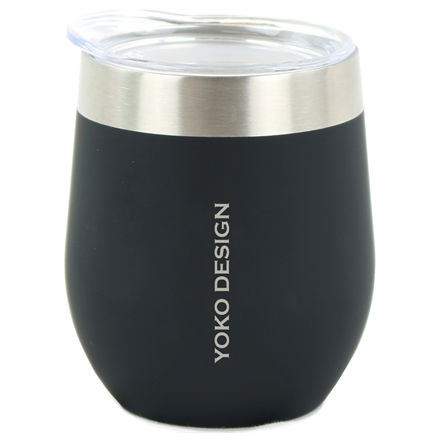 Yoko Design Isotherm mug with cup Isothermal, Black, Capacity 0.25 L, Bisphenol A (BPA) free