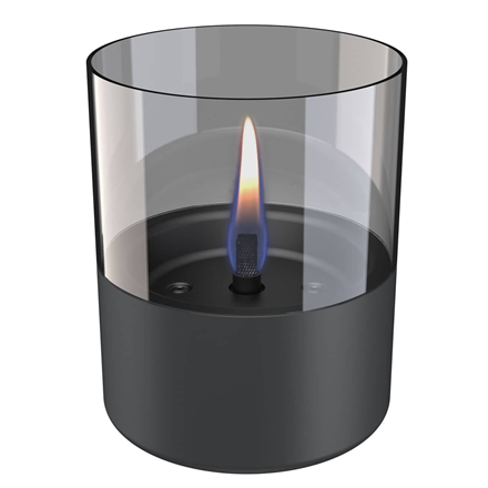 Tenderflame Table burner Lilly 1W Glass Diameter 10 cm, Height 12 cm, 200 ml, 7 hours, Dark grey