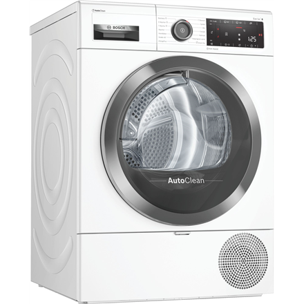 Bosch Dryer mashine WTX8HKL9SN Energy efficiency class A++, Front loading, 9 kg, Heat pump, LED, Depth 60 cm, Wi-Fi, Steam function, White, Home conect