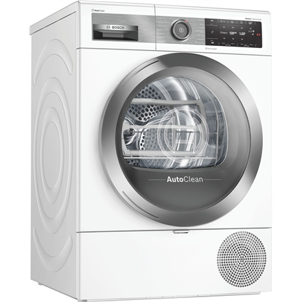 Bosch Dryer mashine WTX8HEL9SN Energy efficiency class A+++, Front loading, 9 kg, Heat pump, TFT, Depth 60 cm, Wi-Fi, Steam function, White, Home Connect