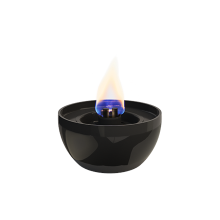 Tenderflame Table burner Rose 3W Porcelain Diameter 14 cm, Height 7.5 cm, 300 ml, 4-5 hours, Black