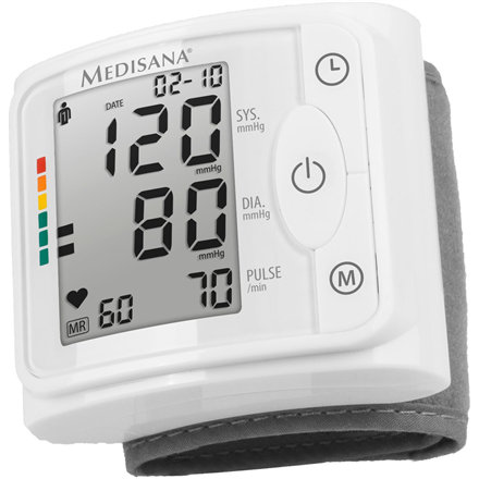 Medisana Wrist Blood pressure monitor BW 320 Memory function, Number of users Multiple user(s), Memory capacity 120 memory slots for each of 2 users, Wrist Blood pressure monitor, White