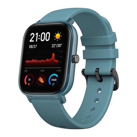 Amazfit GTS Smart watch, GPS (satellite), AMOLED, Touchscreen, Heart rate monitor, Activity monitoring 24/7, Waterproof, Bluetooth, Steel Blue
