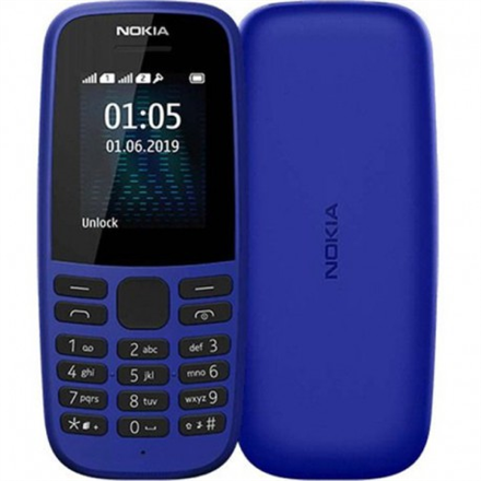 "Nokia 105 TA-1203 Blue, 1.77 "", TFT, 120 x 160 pixels, 4 MB, 4 MB, Single SIM, USB version microUSB, 800 mAh"