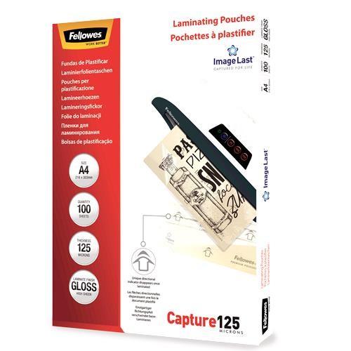 LAMINATOR POUCH IMAGELAST/A4 125 100PCS 5307407 FELLOWES