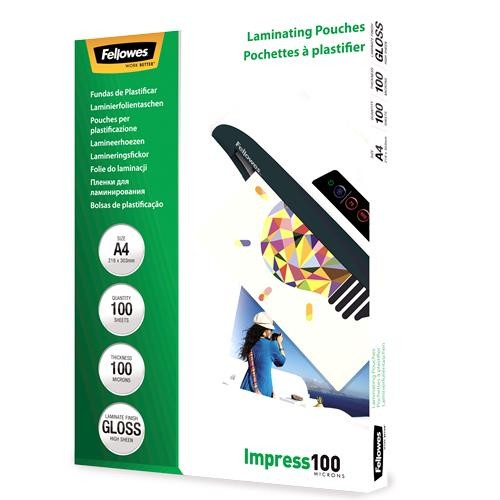 LAMINATOR POUCH GLOSSY/A4 100 100PCS 5351111 FELLOWES