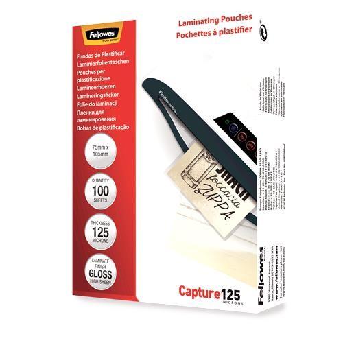 LAMINATOR POUCH GLOSSY CARD/125 100PCS 5306901 FELLOWES