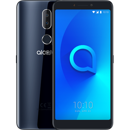 "Alcatel 3v Spectrum 5099D Black, 6 "", IPS LCD, 1080 x 2160, Mediatek, MT8735A, Internal RAM 2 GB, 16 GB, microSD, Dual SIM, Nano-SIM, 3G, 4G, Main camera Dual 12+2 MP, Secondary camera 5 MP, Android, 8.0, 3000 mAh"
