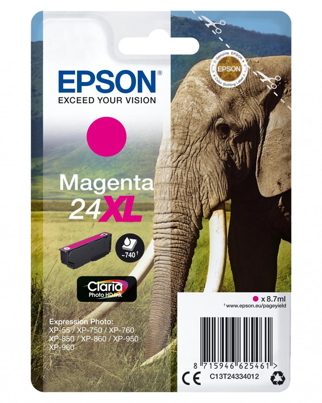 Epson Elephant C13T24334012 tindikassett Originaal Magenta 1 tk