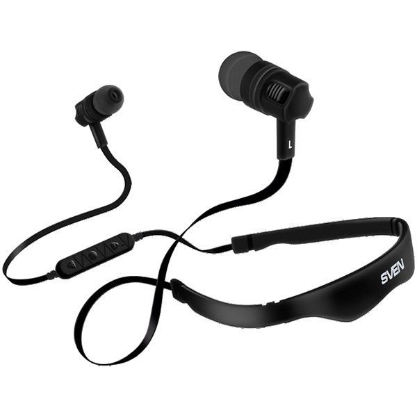 Wireless In-ear stereo earbuds with microphone SVEN E-215B, black, SV-016760