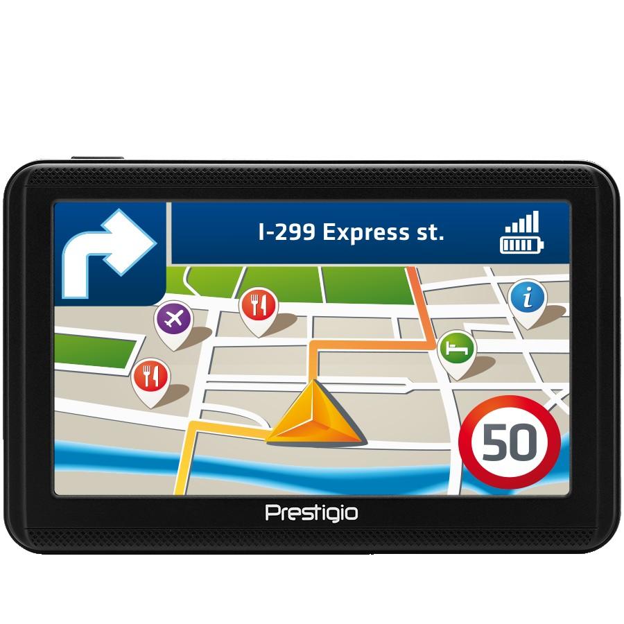 """Prestigio GeoVision 5060, 5"""" (480*272) TN display, WinCE 6.0, 800MHz Mstar MSB2531 Cortex A7, 128MB DDR, 4GB Flash, 600mAh battery, color/black, No maps inside"""