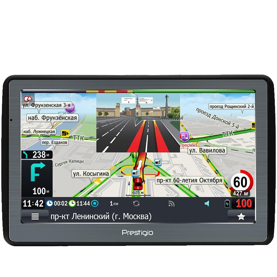 "Prestigio GeoVision 7060, 7"" (800*480) TN display, WinCE 6.0, 800MHz Mstar MSB2531 Cortex A7, 128MB DDR, 4GB Flash, 1500mAh battery, color/black, PROGOROD navigation software (preinstalled maps of Belarus, Russia, Ukraine)"