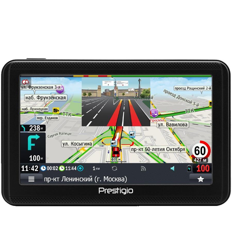 "Prestigio GeoVision 5060, 5"" (480*272) TN display, WinCE 6.0, 800MHz Mstar MSB2531 Cortex A7, 128MB DDR, 4GB Flash, 600mAh battery, color/black, PROGOROD navigation software (preinstalled maps of Belarus, Russia, Ukraine)"