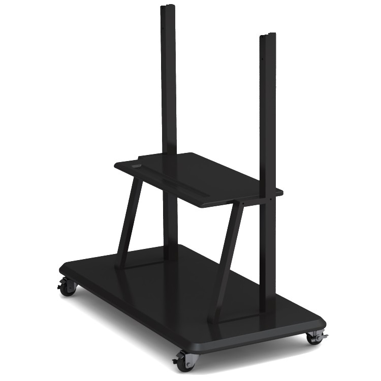 "Prestigio MultiBoard stand PMBST01 can accommodate all screen sizes from 55-98"" screens. Includes roll wheels for easy adjustment of position, and a shelf for accessories."