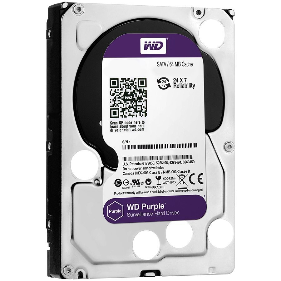 HDD AV WD Purple (3.5'', 2TB, 64MB, 5400 RPM, SATA 6 Gb/s)