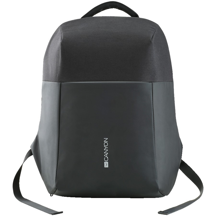 CANYON BP-9 Anti-theft backpack for 15.6''-17'' laptop, material 900D glued polyester and 600D polyester, black, USB cable length0.6M, 400x210x480mm, 1kg,capacity 20L