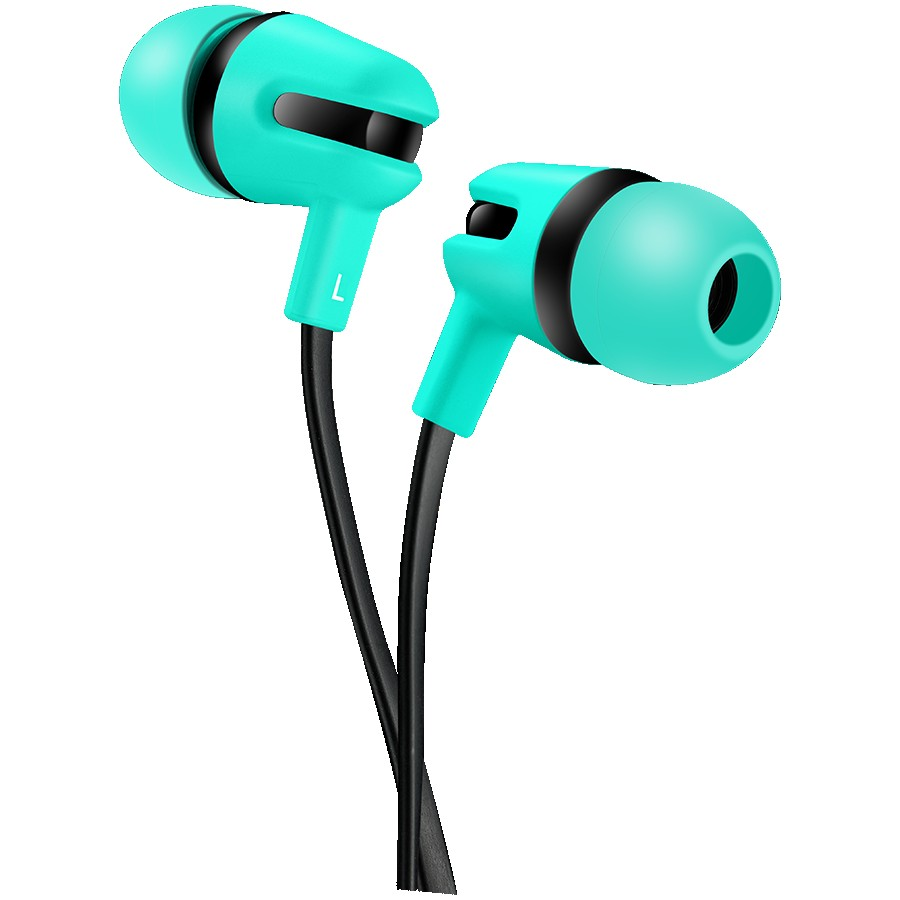 CANYON SEP-4 Stereo earphone with microphone, 1.2m flat cable, Green, 22*12*12mm, 0.013kg