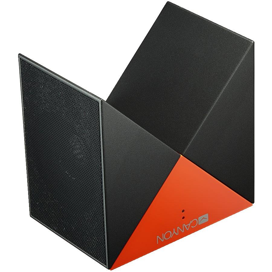 CANYON BSP-4 Transformer Bluetooth Speaker, BT V5.0, Jieli AC6925, 360 degree rotation, Built in microphone, TF card support, 3.5mm AUX, micro-USB port, 800mAh polymer battery, grey-orange, 7.1*35.6mm, 0.155kg
