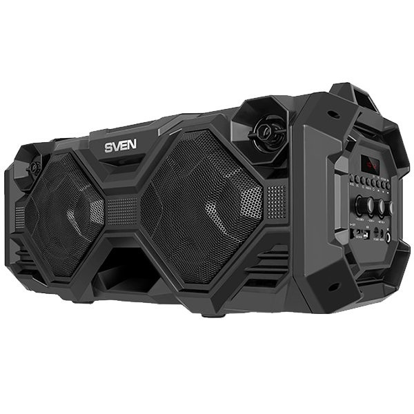 Speaker SVEN PS-490, black (36W, FM, USB, microSD, LED-display, 2x2000mA*h)