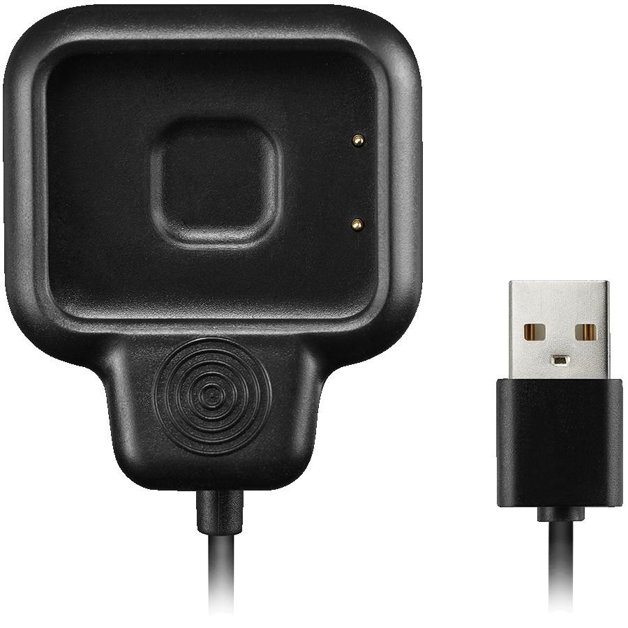 Smartwatch charging kit, USB 2.0 cable, Black, length: 22cm, diameter: 3mm, 16g