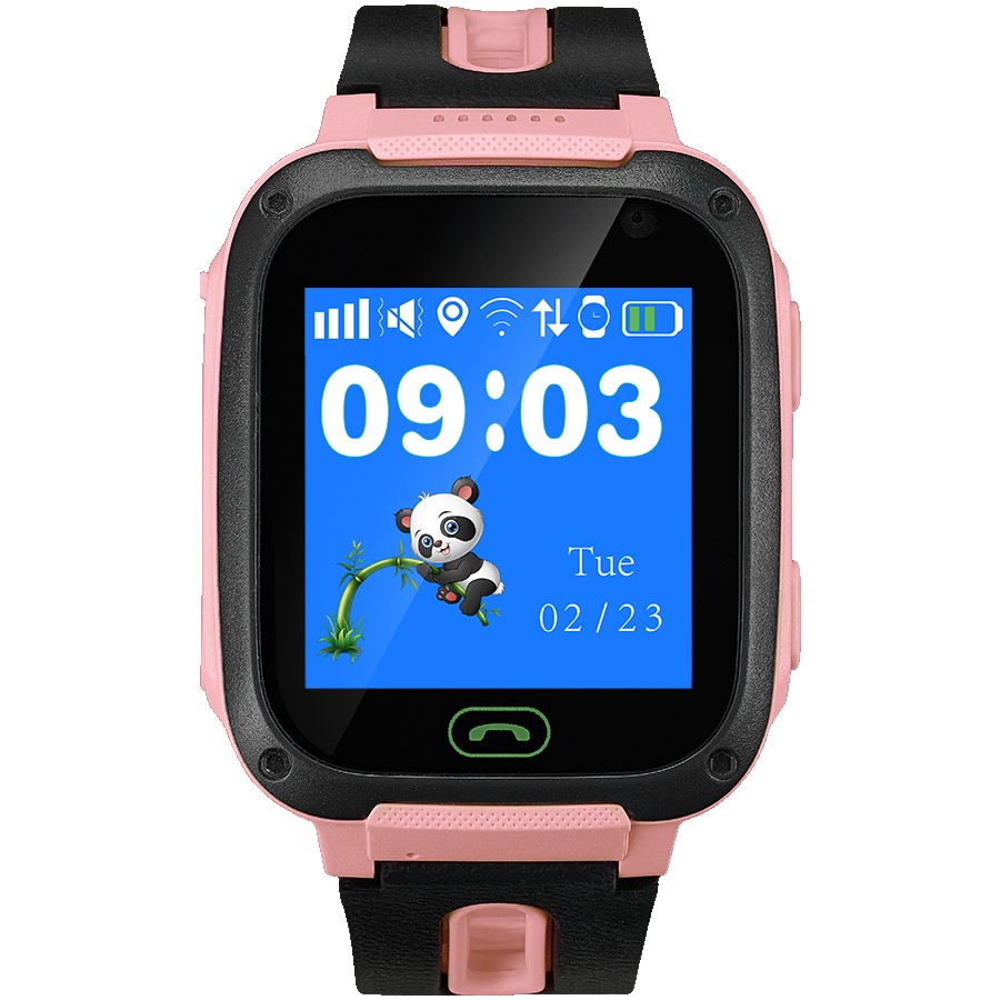 Kids smartwatch, 1.44 inch colorful screen, front camera, SOS button, single SIM, 32+32MB, GSM(850/900/1800/1900MHz), 400mAh, compatibility with iOS and android, Red, host: 51.6*38.5*14.5mm, strap: 180*20mm, 43g, for Baltic