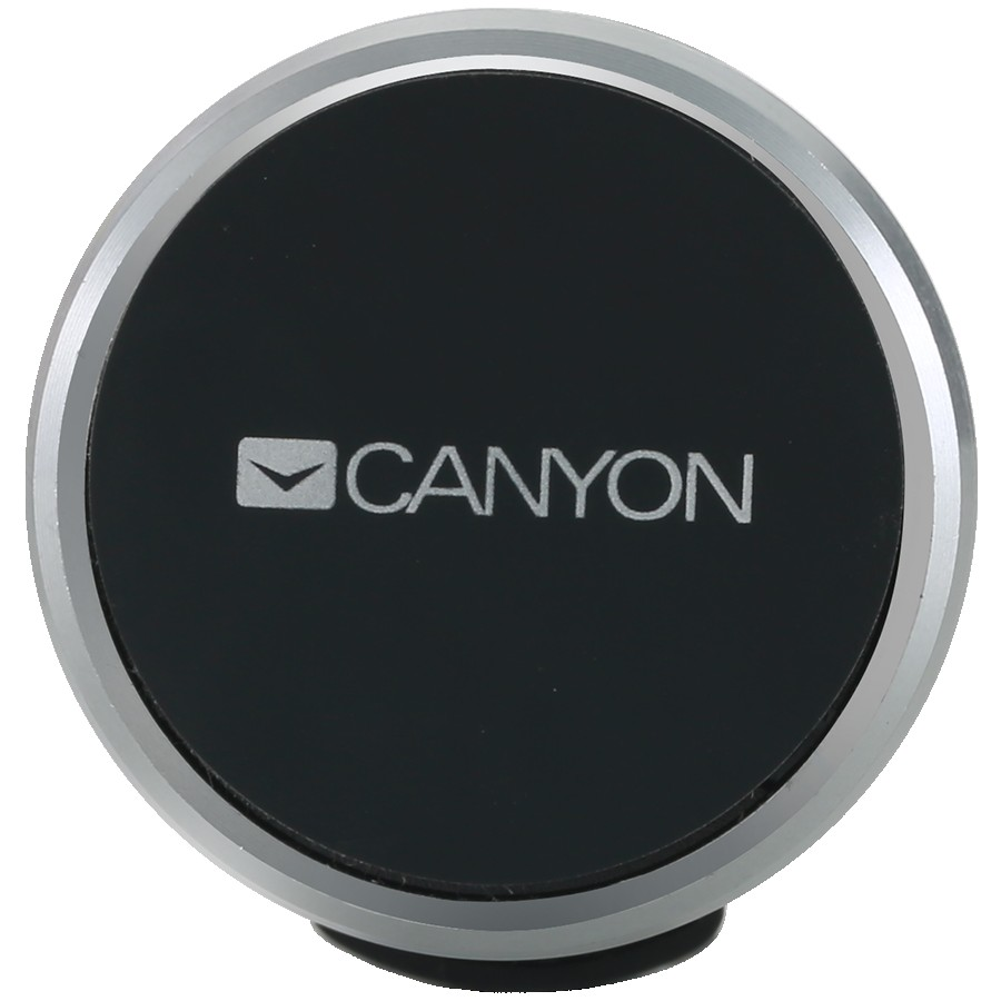 Canyon CH-4 Car Holder for Smartphones,magnetic suction function ,with 2 plates(rectangle/circle), black ,40*35*50mm 0.033kg