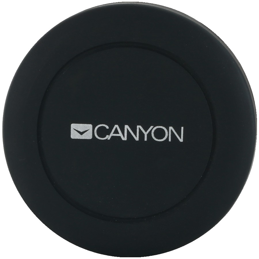Canyon CH-2 Car Holder for Smartphones,magnetic suction function ,with 2 plates(rectangle/circle), black ,44*44*40mm 0.035kg