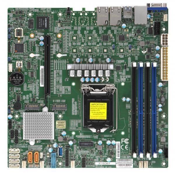SERVER MB C246 S1151 MATX/MBD-X11SCM-F-O SUPERMICRO