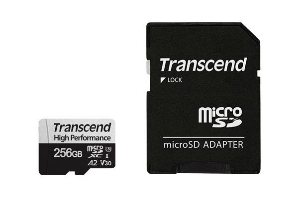 MEMORY MICRO SDXC 256GB W/A/UHS-I TS256GUSD330S TRANSCEND