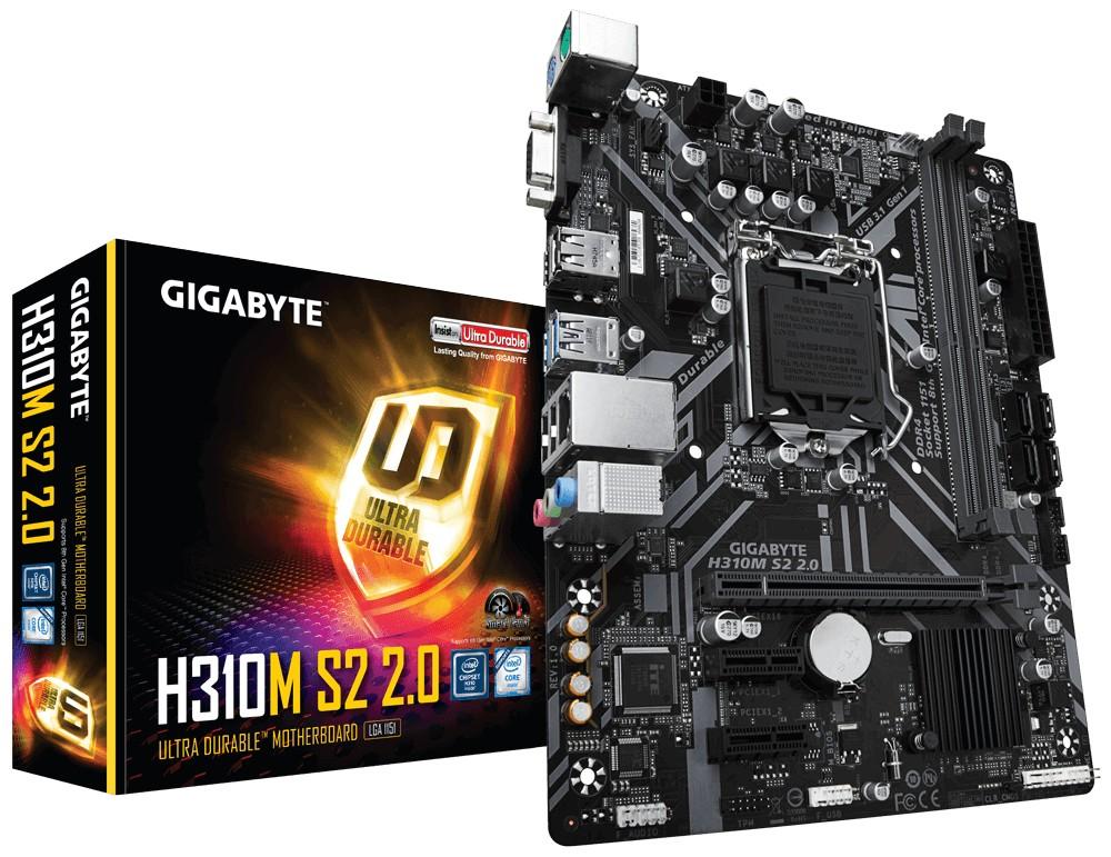 Gigabyte H310M S2 2.0 emaplaat Intel® H310 LGA 1151 (pesa H4) Mikro ATX