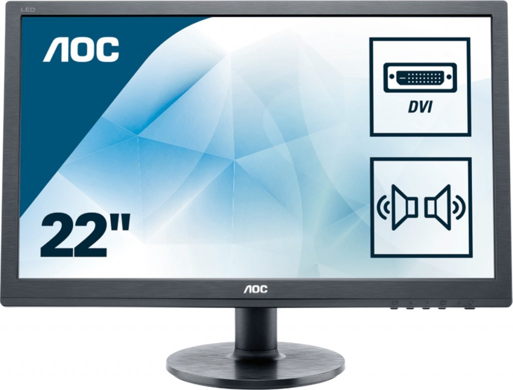 "AOC Essential-line E2260SDA LED display 55,9 cm (22"") 1680 x 1050 pikslit WSXGA+ Must"