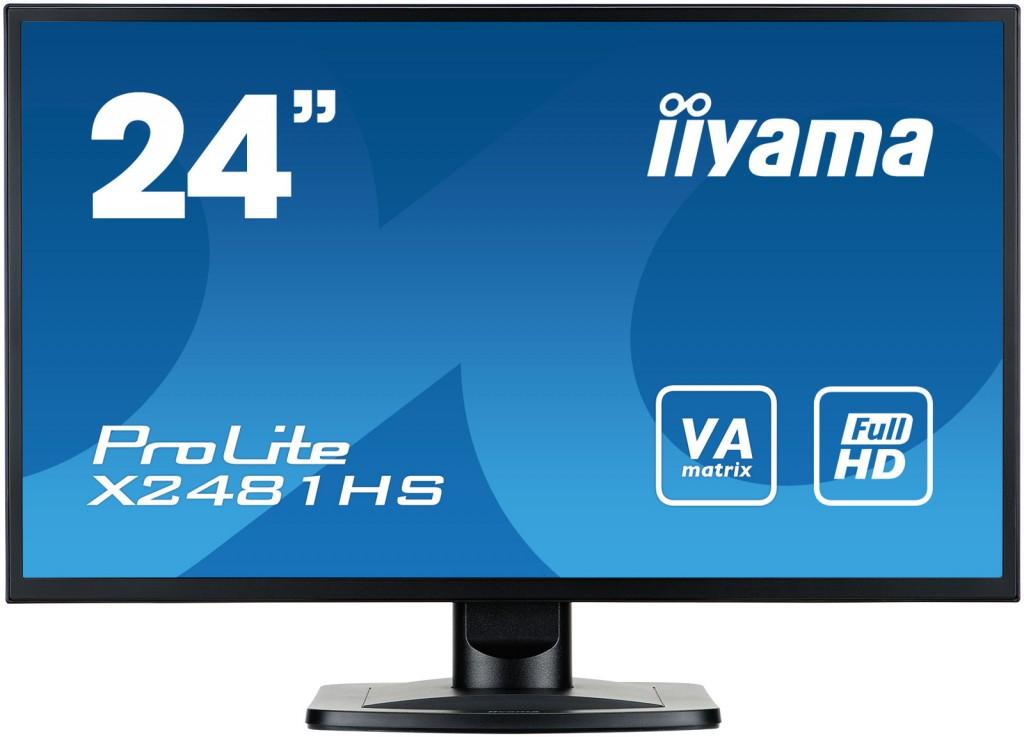 "iiyama ProLite X2481HS-B1 LED display 59,9 cm (23.6"") 1920 x 1080 pikslit Full HD Must"