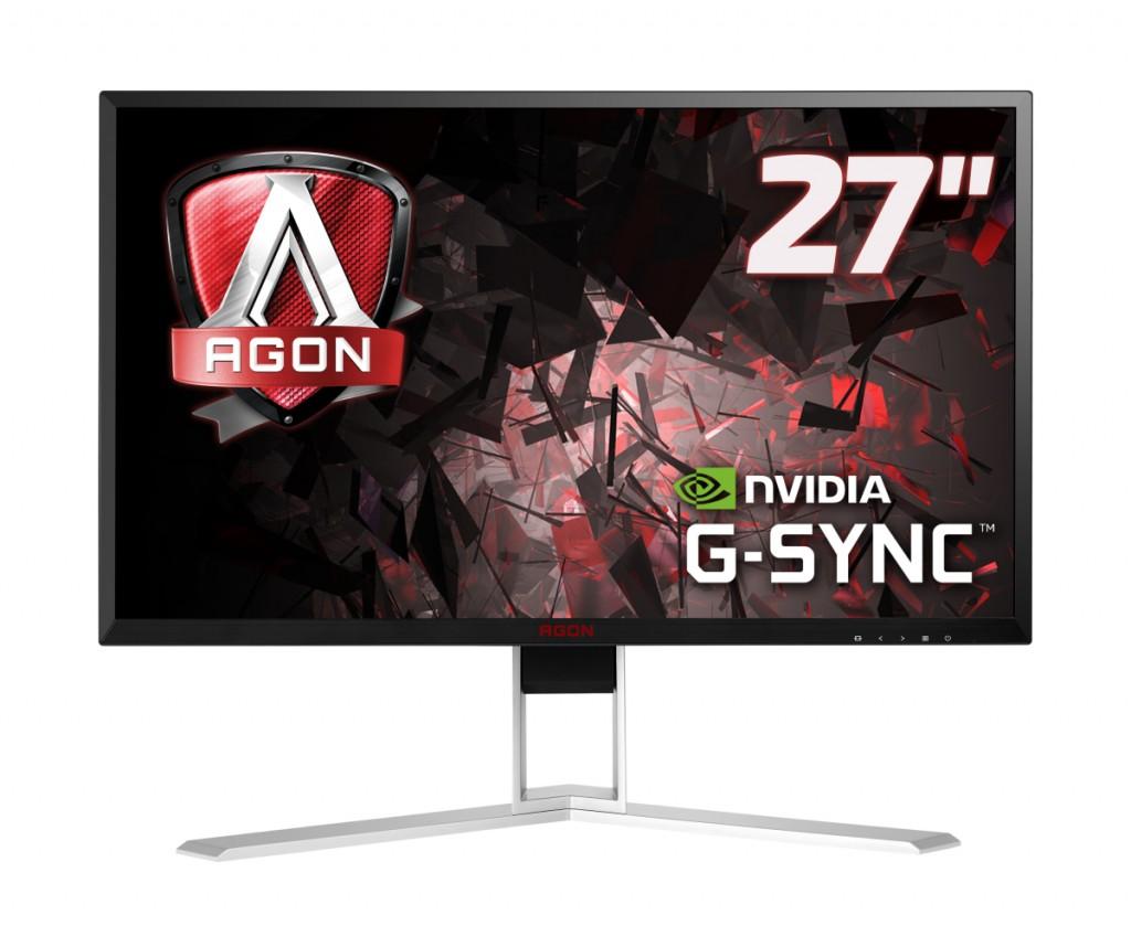 "AOC Gaming AG271QG PC lamekuvar 68,6 cm (27"") 2560 x 1440 pikslit Quad HD LED Must, Punane"
