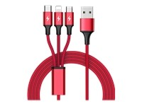 UNITEK C4049RD Unitek Cable 3-in-1, USB-