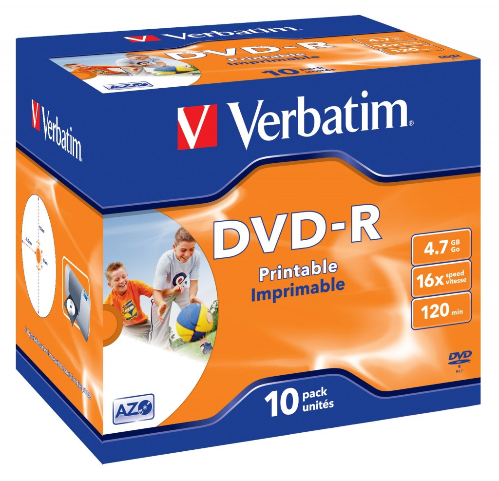 Verbatim 43521 tühi DVD 4,7 GB DVD-R 10 tk