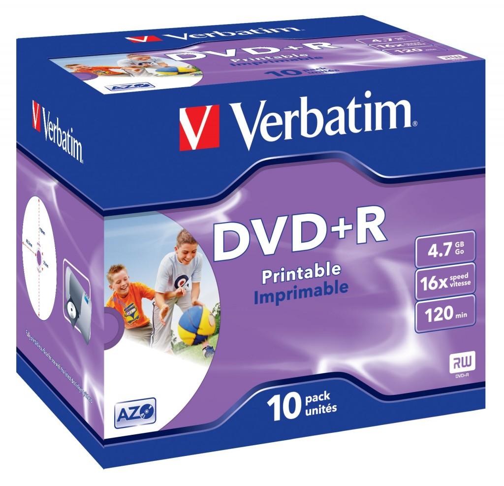 VERBATIM 10x DVD+R 4.7GB 120min 16x JC
