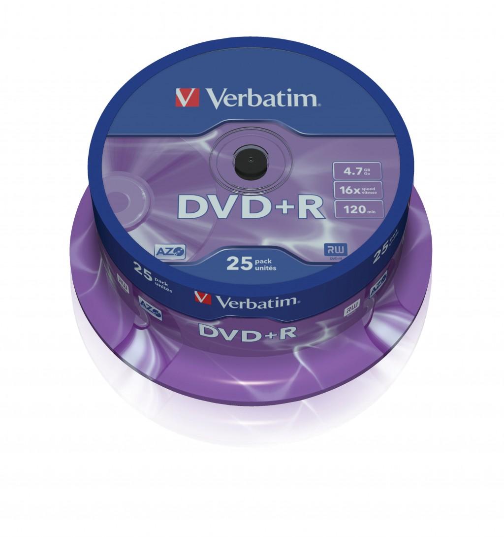 VERBATIM 50x DVD+R 4,7GB 120Min 16x SP