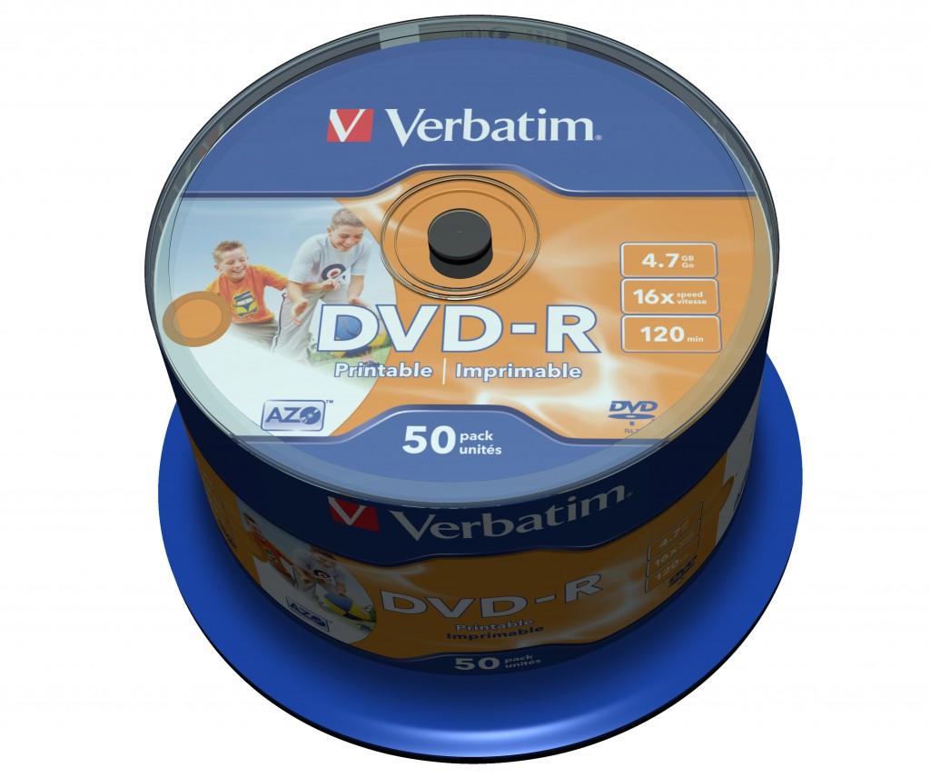 VERBATIM DVD-R DLP 4.7 GB SPINDLE 16X