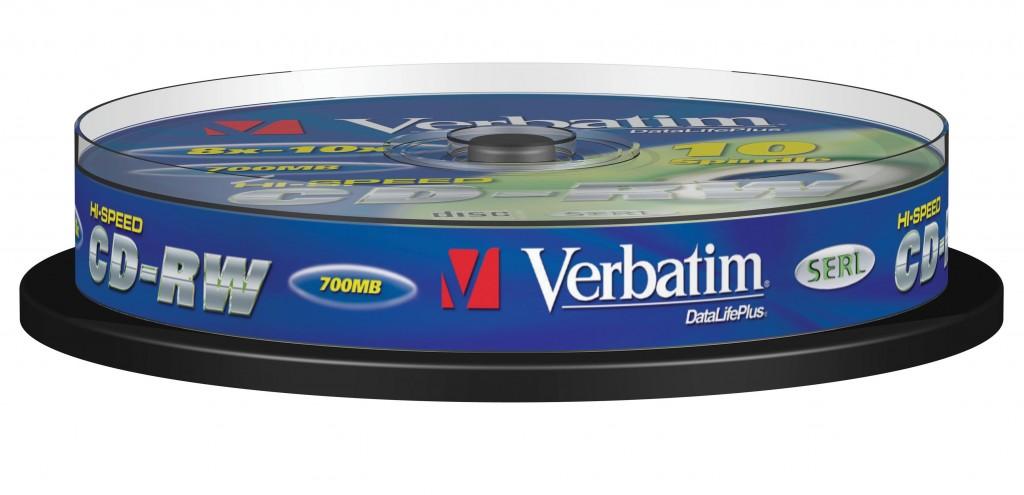 VERBATIM CD-RW DLP 700MB 12X