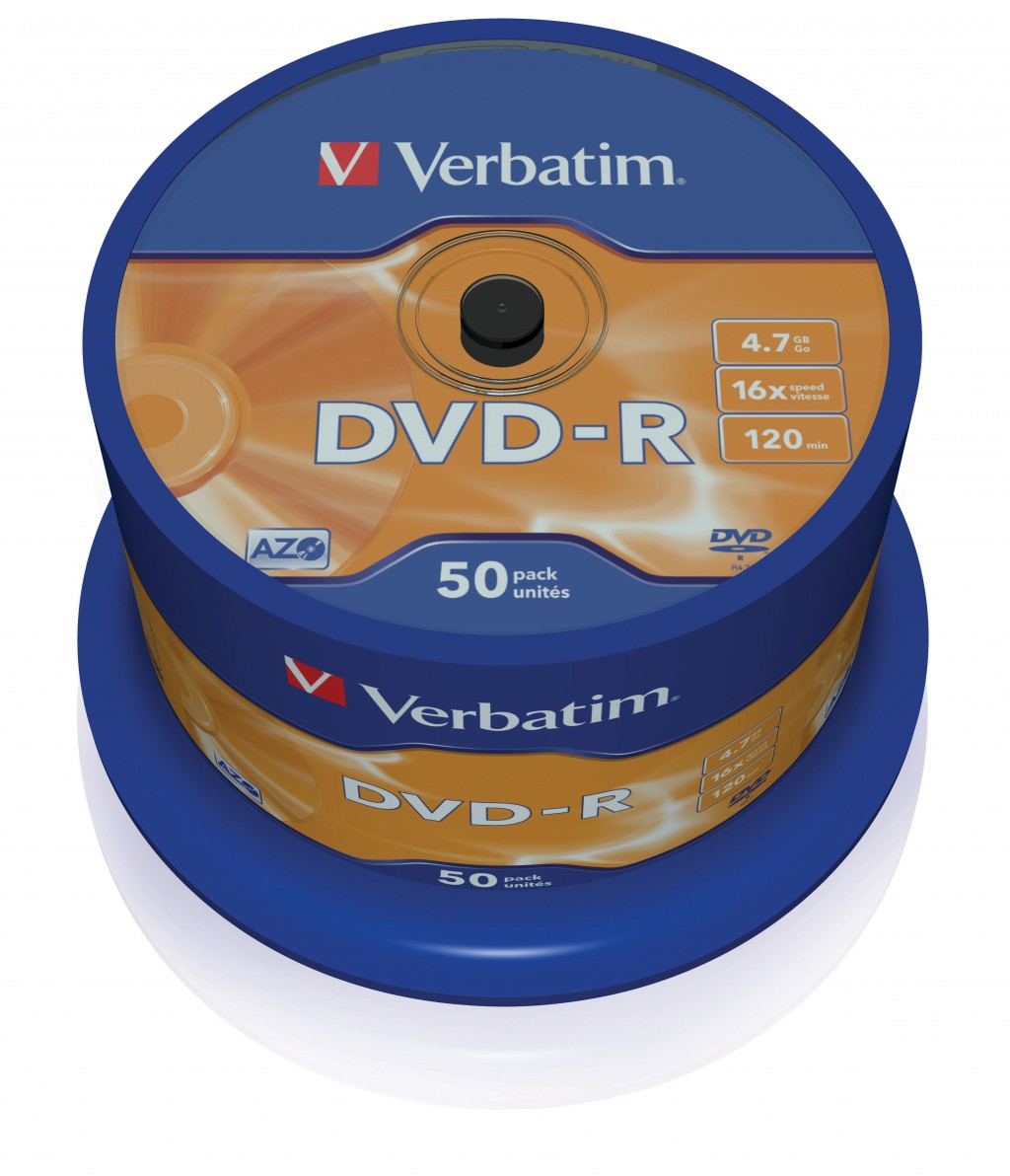 VERBATIM 50x DVD-R 4,7 GB 16x SP
