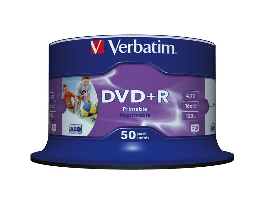 VERBATIM 50x DVD+R 4,7GB 16x SP