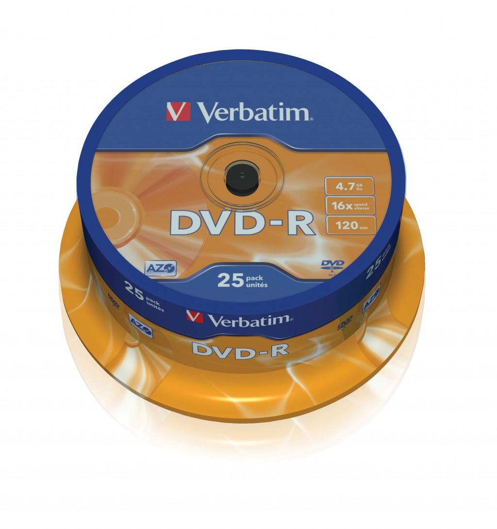 VERBATIM 25x DVD-R 4,7GB 16x SP