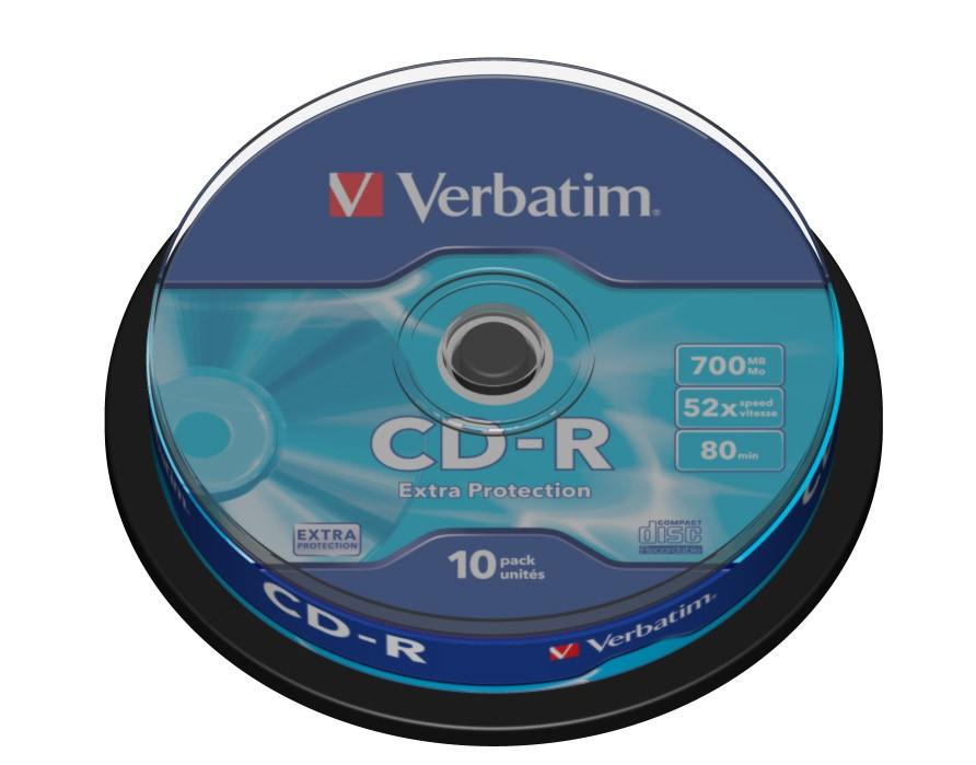 VERBATIM CD-R 700MB 52X EXTRA P