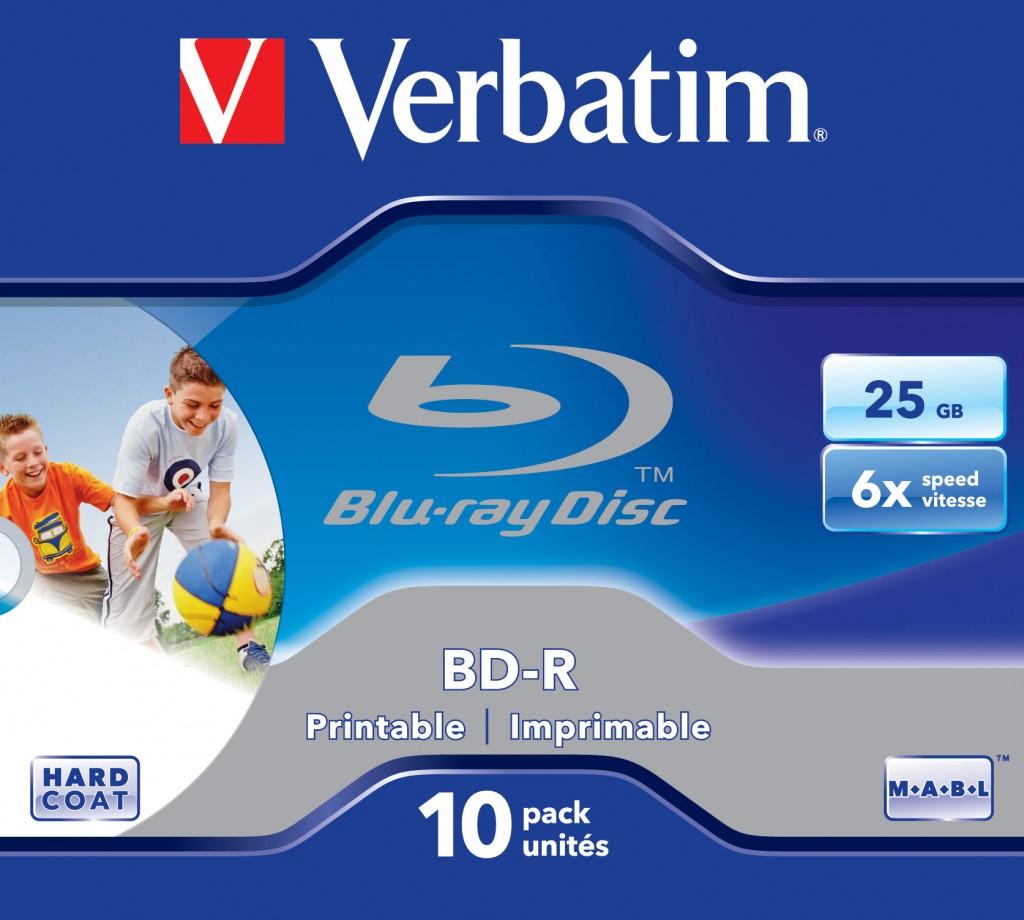 VERBATIM BD-R SINGLE LAYER 25GB
