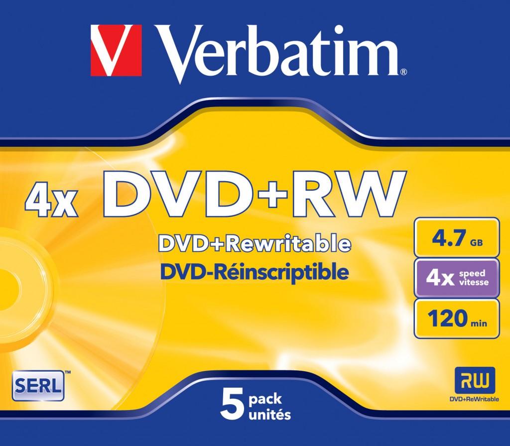 VERBATIM DVD-RW 4X BOITIER CRIS