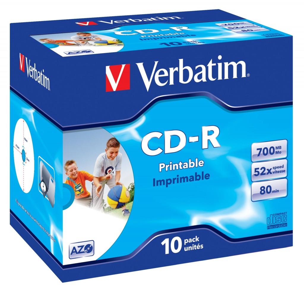 VERBATIM printable CD-R80min 700MB 52x10