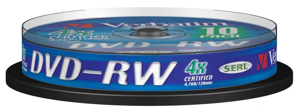 VERBATIM DVD-RW 120min 4.7GB 4x10 pack