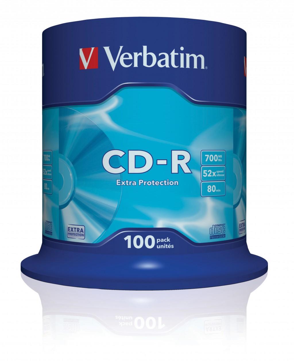 VERBATIM CD-R 80 min. / 700 MB 52x 100-p